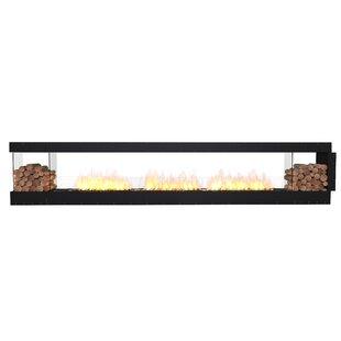 FLEX158 Peninsula Wall Mounted Bio-Ethanol Fireplace Insert