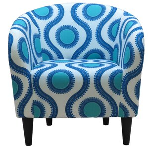 Caspar Upholstered Barrel Chair by Ebern Designs
