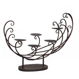 Decorative Tabletop 5-Candle Pillar Metal Candelabra by Fleur De Lis Living #1