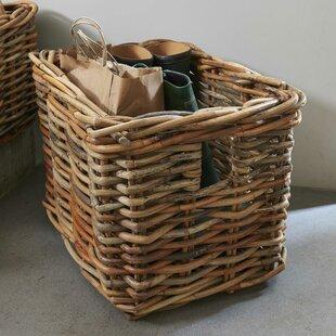 Amesbury Wicker/Rattan Basket By Symple Stuff