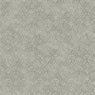 Review Impressions 33' x 20.5 Damask 3D Embossed Wallpaper by York Wallcoverings