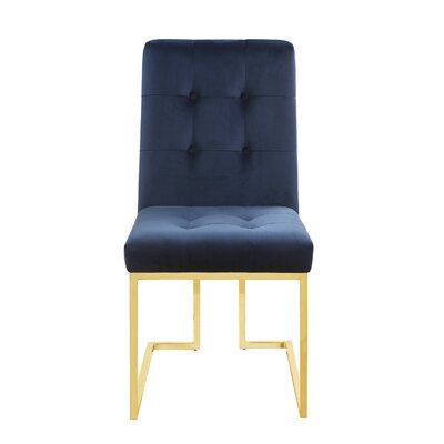 Mercer41 Tenny Upholstered Dining Chair Upholstery Color: Ink Blue