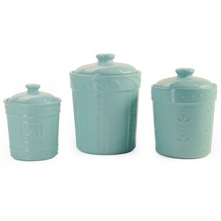 blue kitchen canisters jars you ll love wayfair rh wayfair com  blue glass canisters for the kitchen