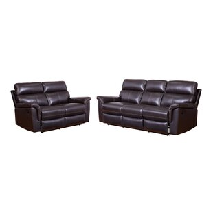 Paden 2 Piece Leather Reclining Living Room Set (Set of 2) by Red Barrel Studio