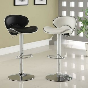 Aubriella Adjustable Height Swivel Bar Stool by Orren Ellis