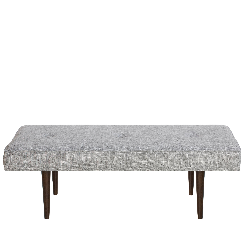 Excellent Foweler Tufted Woven Linen Upholstered Bench Lamtechconsult Wood Chair Design Ideas Lamtechconsultcom