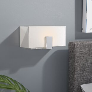 Best Choices Saldivar 1-Light Wall Sconce with Square Shades By Latitude Run