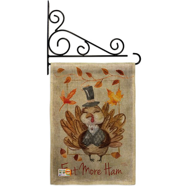 Eat More Burlap Fall Thanksgiving Impressions Decorative 2 Sided Burlap 19 X 13 In Garden Flag Birch Lane