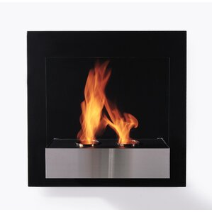 Pure Wall Mount Ethanol Fireplace by BioFlame