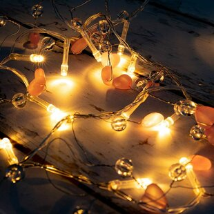 Tayla Beads and Hearts 5 ft. 20-Light Fairy String Light by Turn on the Brights