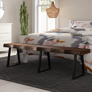 Thomasson Metal/Wood Bench by Mistana