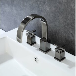 Emmy Widespread Bathroom Faucet with Drain Assembly By Mistana