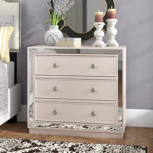 One Allium Way Abasi 3 Drawer Nightstand