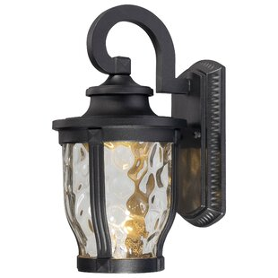 Great Price Porterfield 1-Light Outdoor Wall Lantern By Three Posts