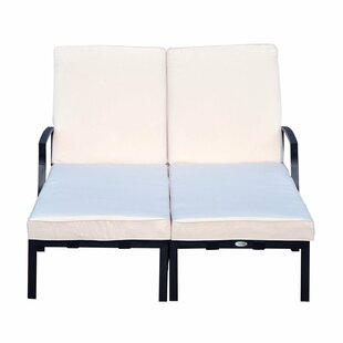 Farris Double Reclining Chaise Lounge with Cushion