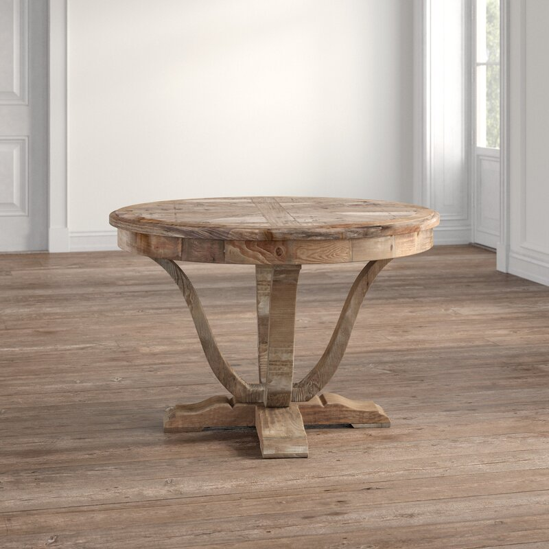 Persaud Pine Solid Wood Dining Table