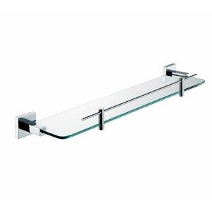 Orren Ellis Hindes Glass Wall Shelf