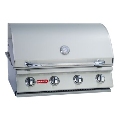 Outlaw 4-Burner Built-In Propane Gas Grill Bull Outdoor Gas Type: Liquid Propane