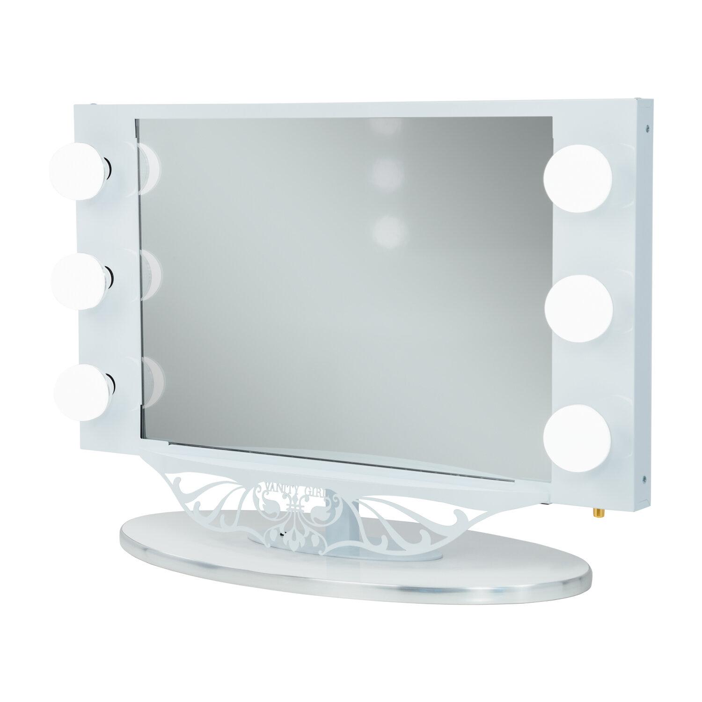 Vanity Girl Hollywood Starlet Lighted Bathroom/Vanity Mirror ...