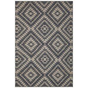 Jones Hand-Woven Wool Black/Beige Area Rug