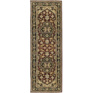 Online Reviews One-of-a-Kind Serapi Wool Hand-Knotted Red/Black Indoor Area Rug ByBokara Rug Co., Inc.