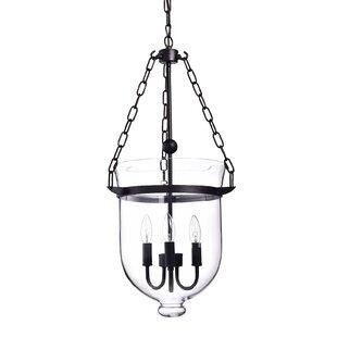 Gracie Oaks Levan Glass 3-Light Urn Pendant