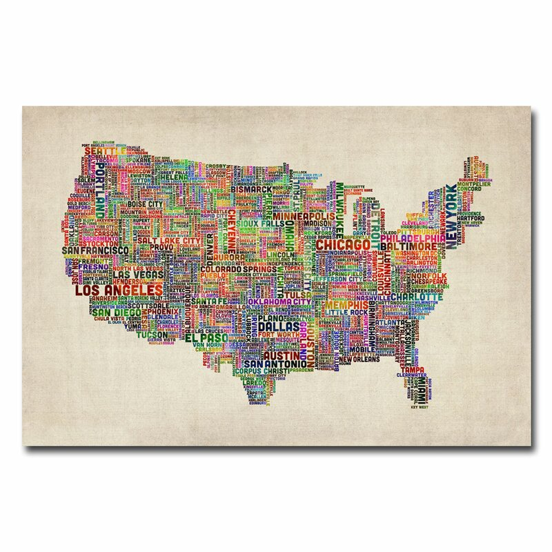 Graphic map of us images diagram writing sample and guide trademark art us cities text map by michael tompsett graphic art us cities text map by sciox Image collections