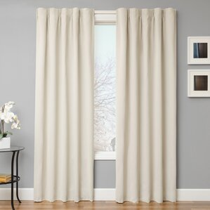 leclair solid blackout curtain panels set of 2 - Blackout Curtain