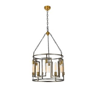 Brayden Studio Wheeling 12-Light Lantern Chandelier