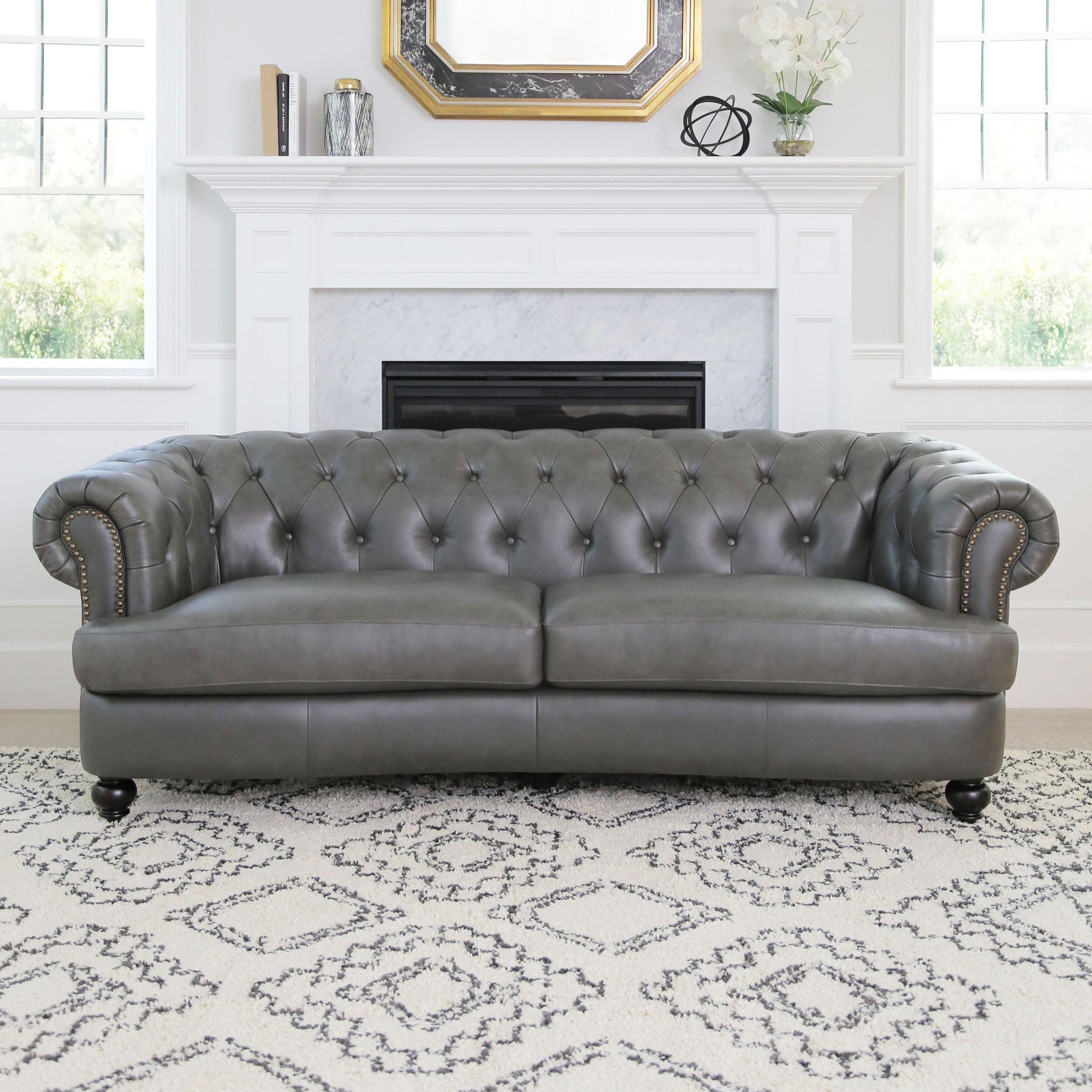 Darby Home Co Barnabas Top Grain Leather Chesterfield Sofa | Wayfair