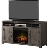 Kemmerer TV Stand for TVs up to 65 with Electric Fireplace Included by Three Posts™