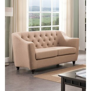 Godmanchester Button Tufted Loveseat by Charlton Home