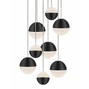 Divine 9-Light Pendant by Radionic Hi Tech