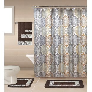 Compare Ponce de Leono Shower Curtain Set By Bungalow Rose