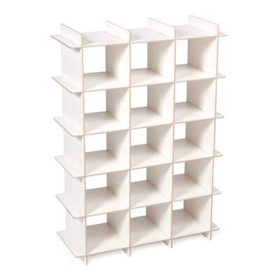 Harriet Bee Oundle Kids 15-Compartment 15 Pair Shoe Rack Finish: White
