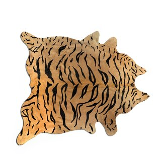 Big Save Behrendt Tiger Cowhide Brown/Black Area Rug By Bloomsbury Market