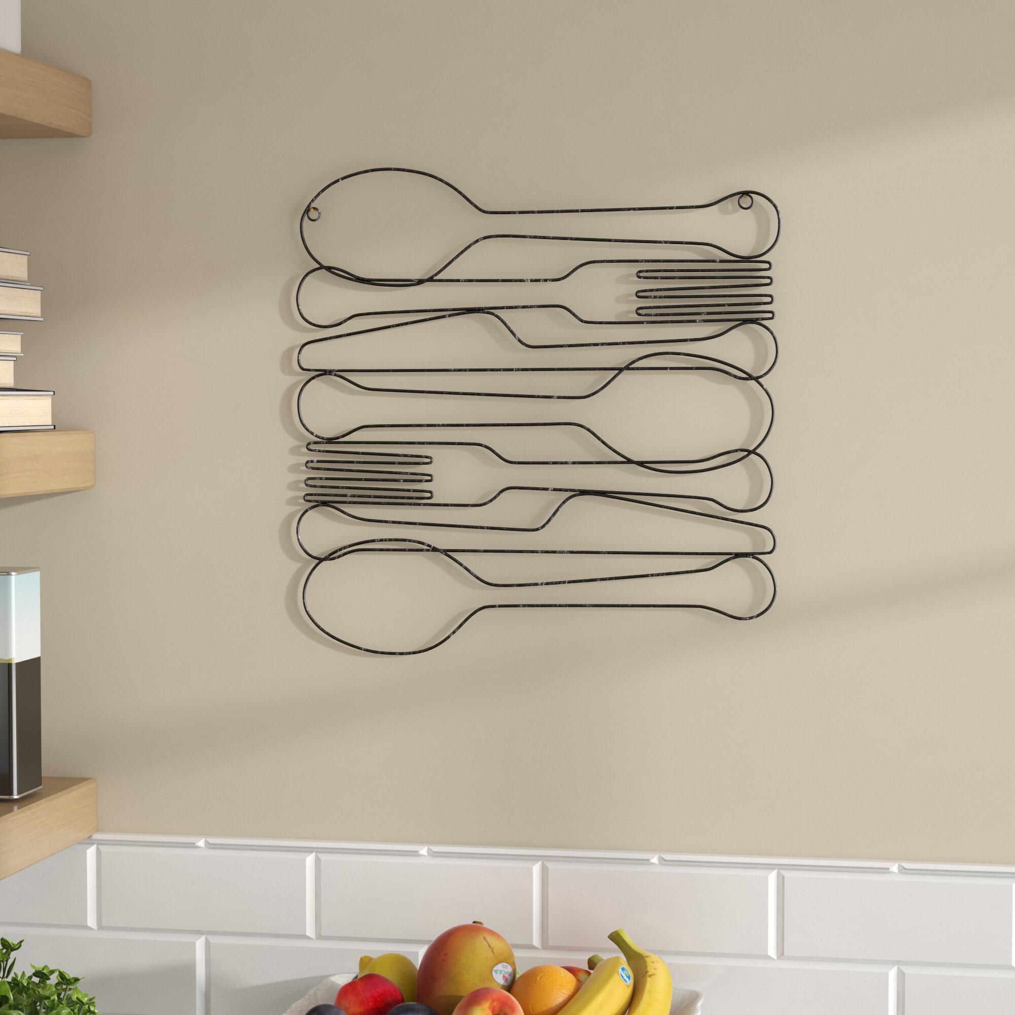 metal wall decor kitchen
