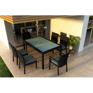 Azariah 7 Piece Sunbrella Dining Set with Cushions