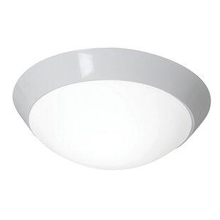 Ebern Designs Capp LED Outdoor Flush Mount