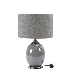 Lostant Modern Matte Gunmetal 23 Table Lamp