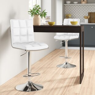 Review Miah Height Adjustable Bar Stool (Set Of 2)
