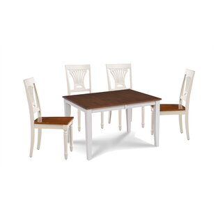 Wahl 5 Piece Extendable Solid Wood Dining Set Breakwater Bay