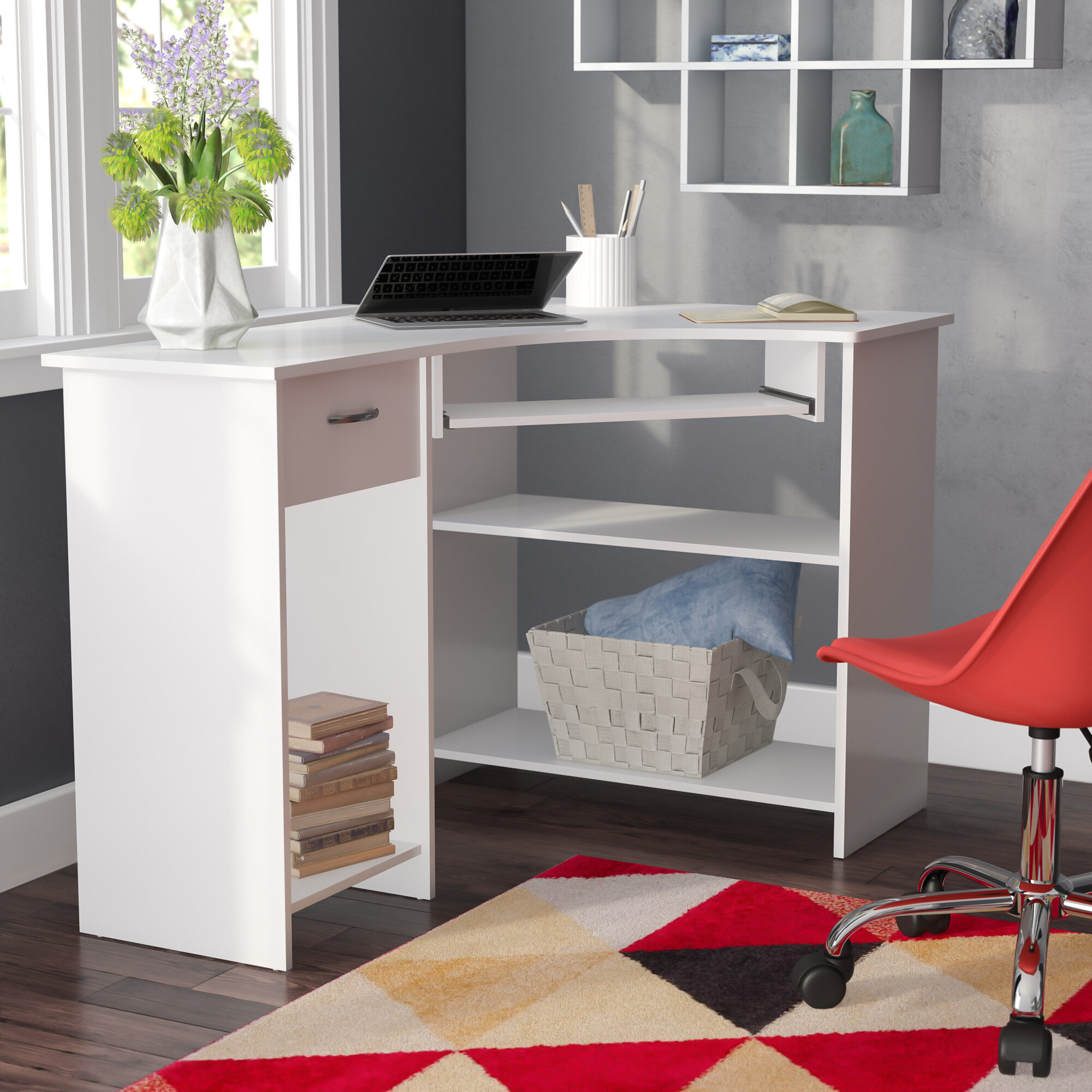 Latitude Run Scheller Corner Computer Desk Wayfair Co Uk
