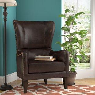 Bramhall Bonded Leather Club Chair Alcott Hill