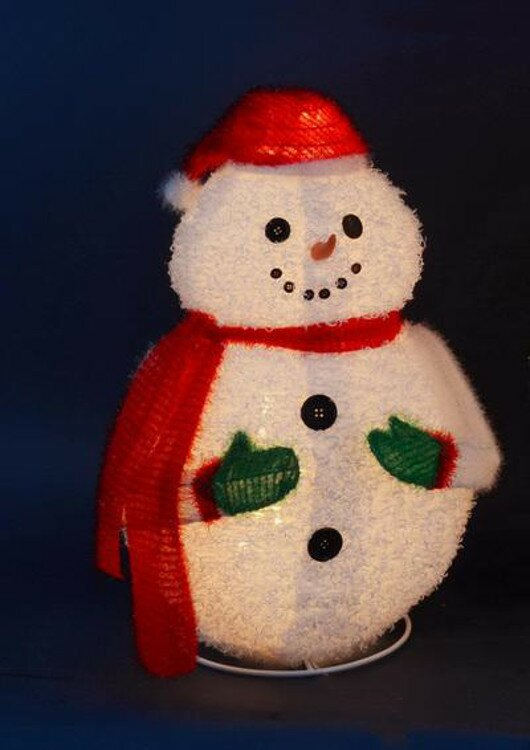 lighted 3 d jolly winter snowman collapsible outdoor christmas decoration
