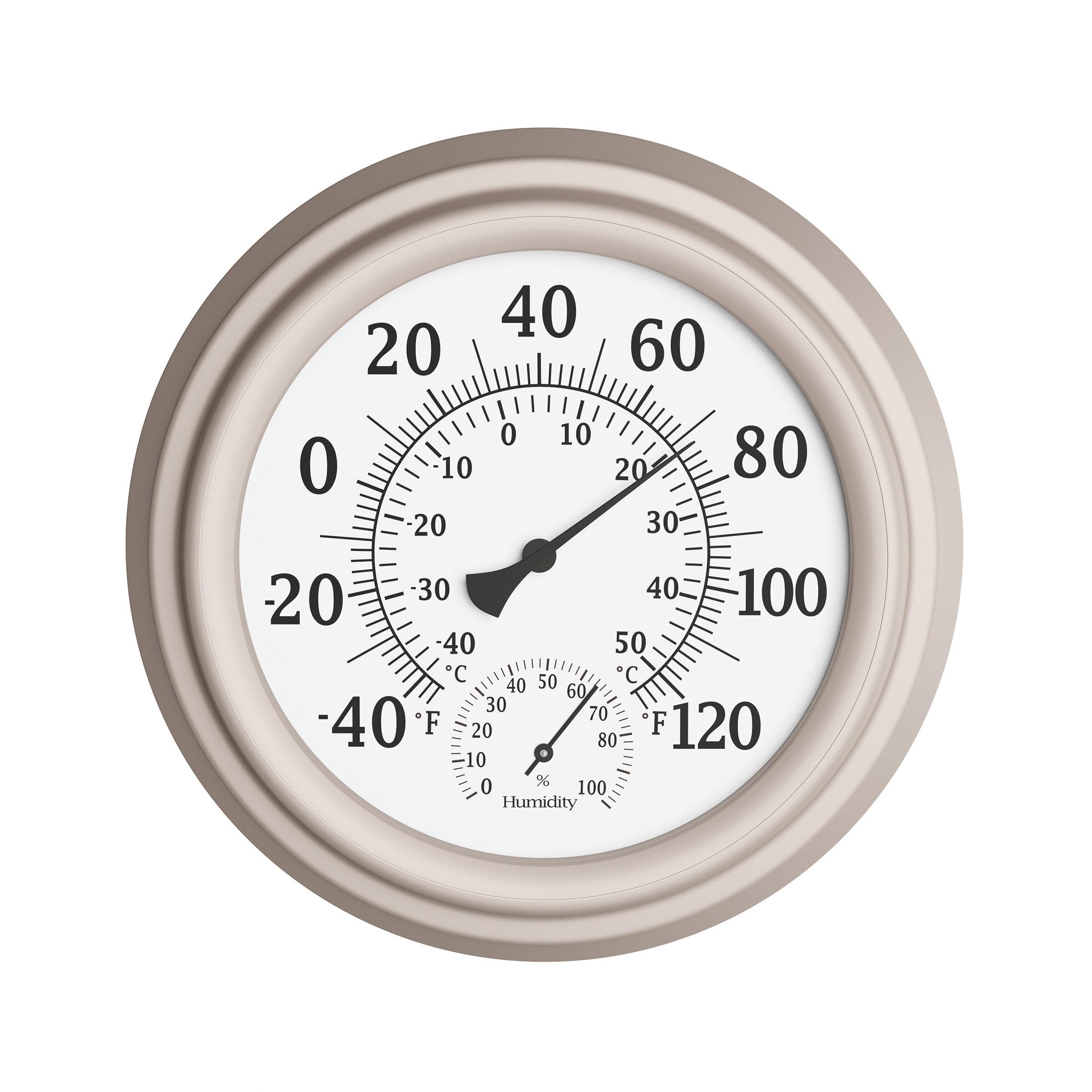 Evergreen Garden Sun Outdoor Wall Thermometer
