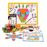 1 Set Children Magnetic Puzzle Toys Educational Drawing Board Toys (Colourful)