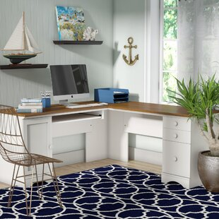Pinellas L-Shape Computer Desk by Beachcrest Home Sale