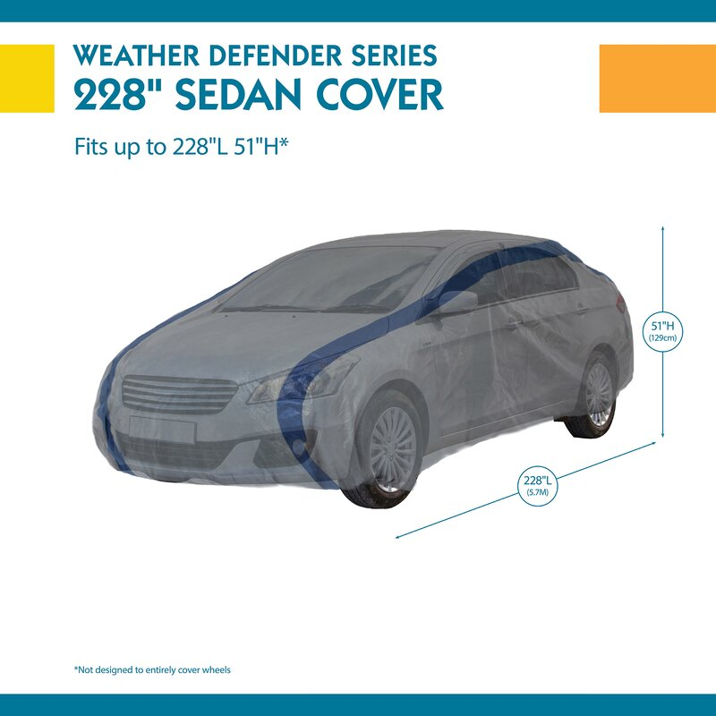 Duck Covers Weather Defender Car Cover for Sedans up to 19