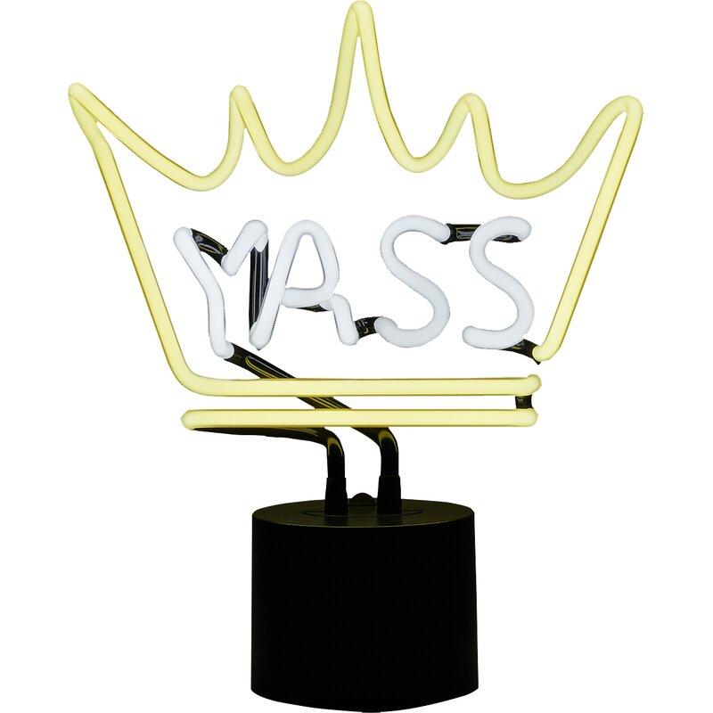 Hashtag Home Yass Tabletop Neon Sign Wayfair Ca